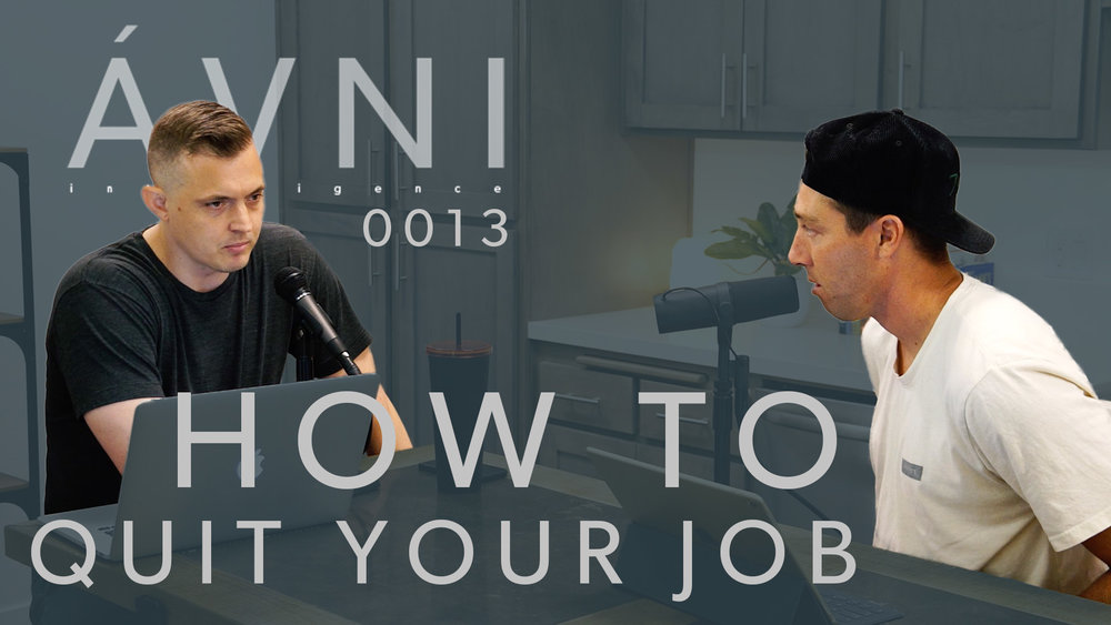 0013: HOW TO QUIT YOUR JOB  Eric Bork & Mikey Taylor are the co-founders of AVNI Intelligence. Eric is a former pro-skateboarder who worked in corporate America before deciding to take the leap and go out on his own. Mikey is a former pro-skateboarder, co-founder of St. Archer Beer, which was acquired by Miller Coors in 2015, and the president of Commune Capital. In this episode, they discuss how use leverage to do what you want to do for your career.