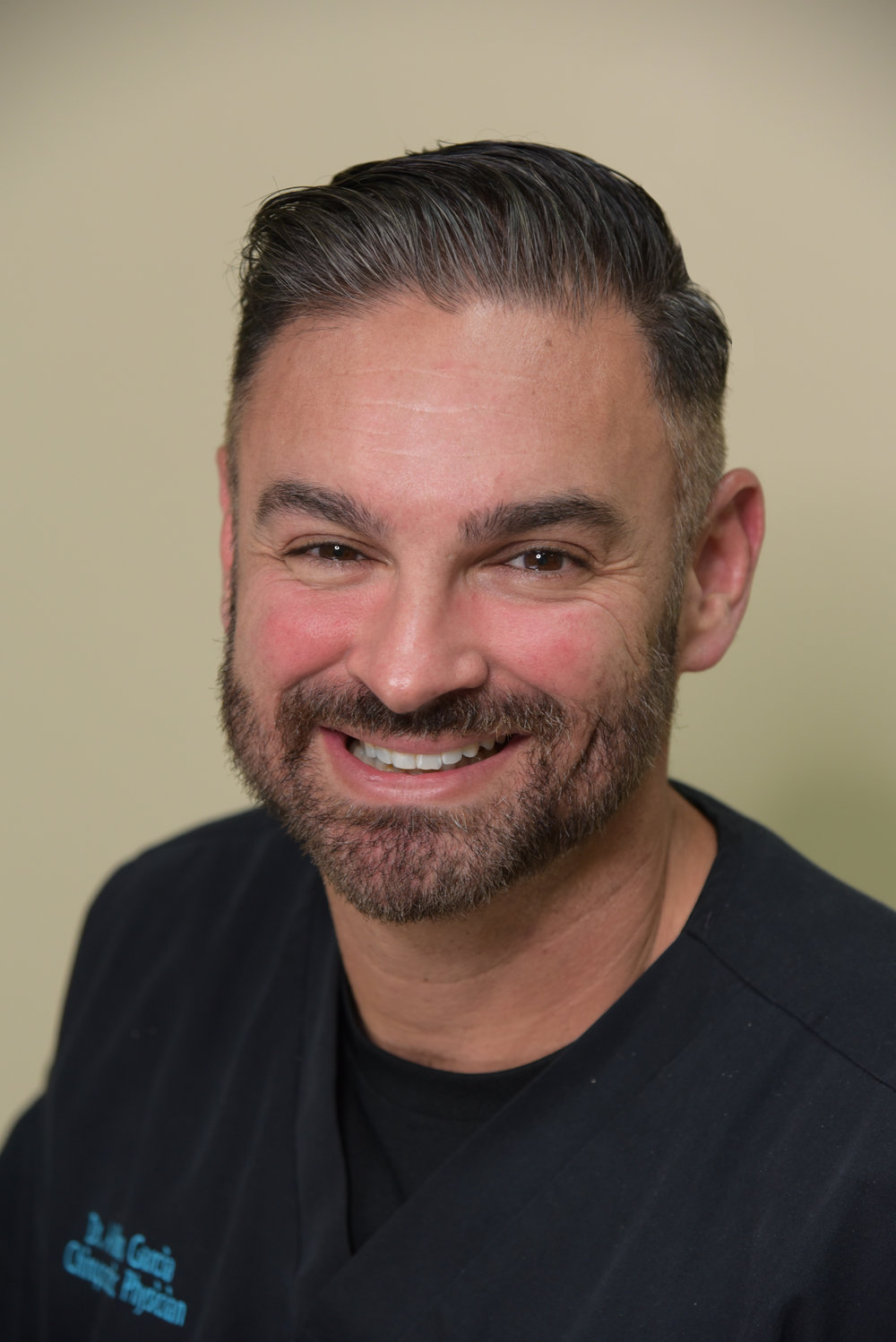 Dr Allen Garcia   Dr. Garcia is originally from Miami, Florida. He received his undergraduate degree from The University of Texas at Austin and his Doctorate in Chiropractic from Texas Chiropractic College. Dr. Garcia has over 18 years of experience helping those injured whether from sports or accidents.