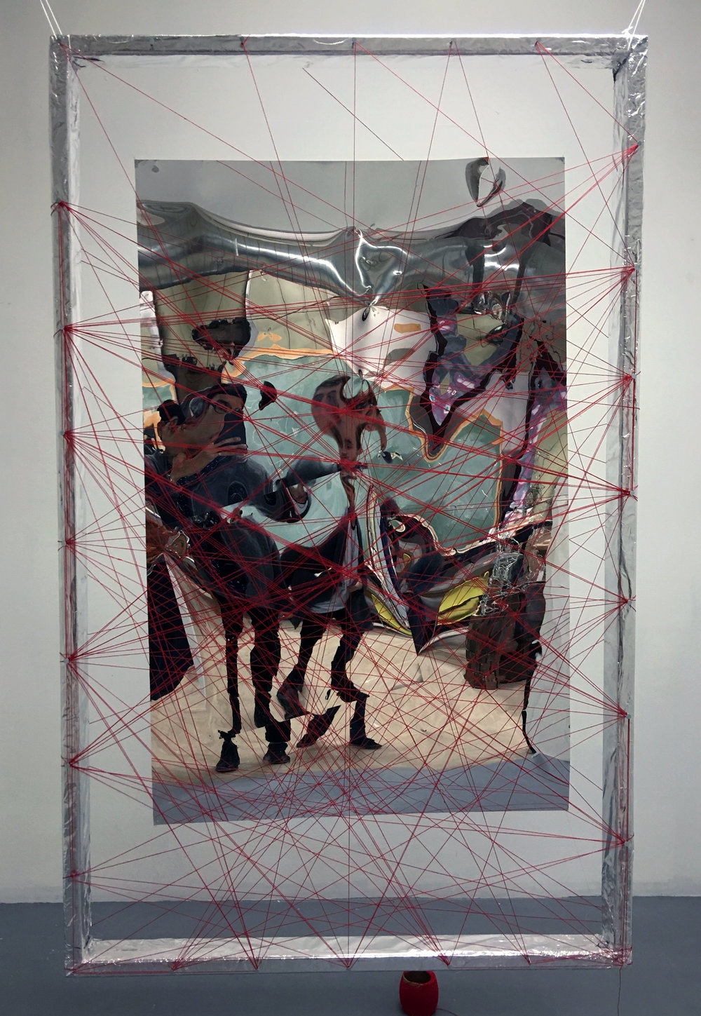 Mylar / Thread / Mixed Media / 7ft x 4ft / 2015