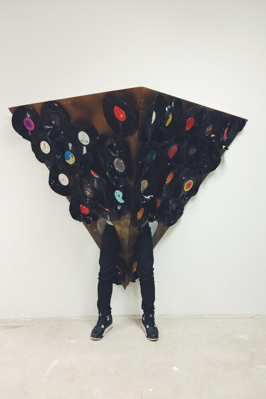 Vinyl. LED Lights. Mixed Media. 6ft x 3ft. 2015