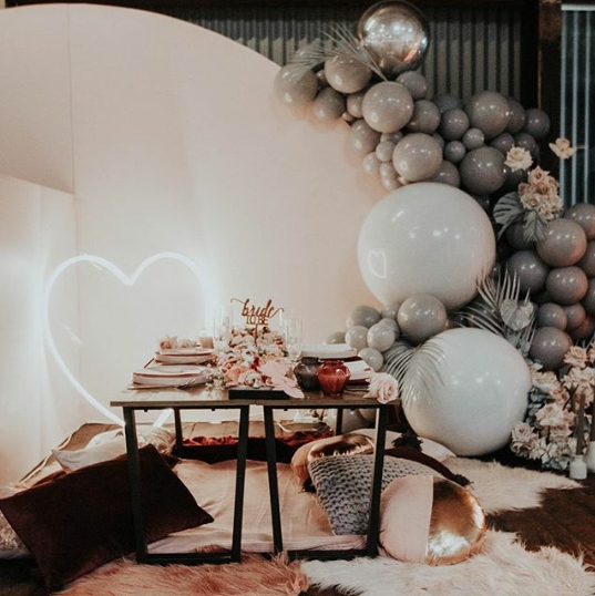 Love Heart Neon - Make a simple statement with our Neon Heart. Measuring 900mm x 900mm the Neon Heart can be either be freestanding or hanging. The Heart has a warm white light and a dimmer option is also available. Please enquire for more information.Cost: $120.00
