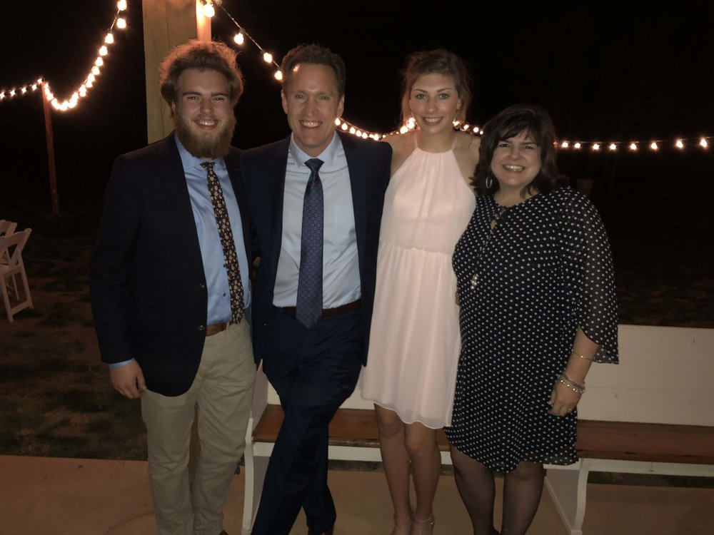 Pictured left to right: Mac Phillips, John Phillips, Molly Phillips, Marci Phillips