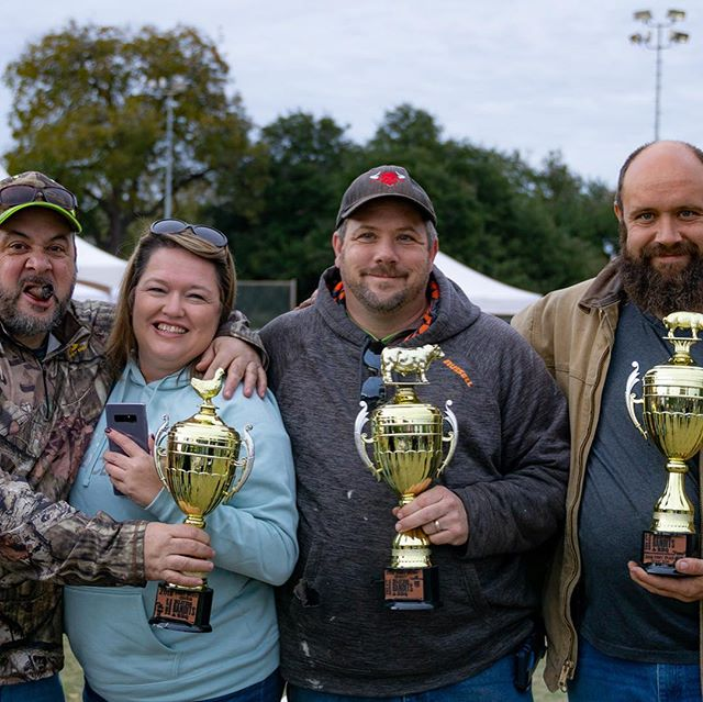 Congratulations to all of the Blues, Bandits, & BBQ winners, and thank you to all cookers, musicians, vendors, and attendees for bundling up and banding together.  Was that a good time or what?  Here are your BBQ winners:  Ribs:  1. Smoke 30 BBQ (Danny McGuiness, Head Cook) 2. Sir Smokes-A-Lot (Dale Brock, Head Cook) 3. Big Sexy BBQ (Tim Rome, Head Cook)  Brisket 1. Smoke 30 BBQ (Danny McGuiness, Head Cook) 2. Meat Sweats (David Mooney, Head Cook) 3. Chad Herman (Chad Herman, Head Cook)  Chicken 1. Smoke 30 BBQ (Danny McGuiness, Head Cook) 2. Meat Sweats (David Mooney, Head Cook) 3. 3Bar BBQ (Brett Lochridge, Head Cook)  People's Choice Winner - Meat Sweats (David Mooney, Head Cook)  Congratulations especially to Smoke 30 BBQ. Our IBCA judging has only witnessed a few trifectas in her years of judging, and this year she added one more to her list!