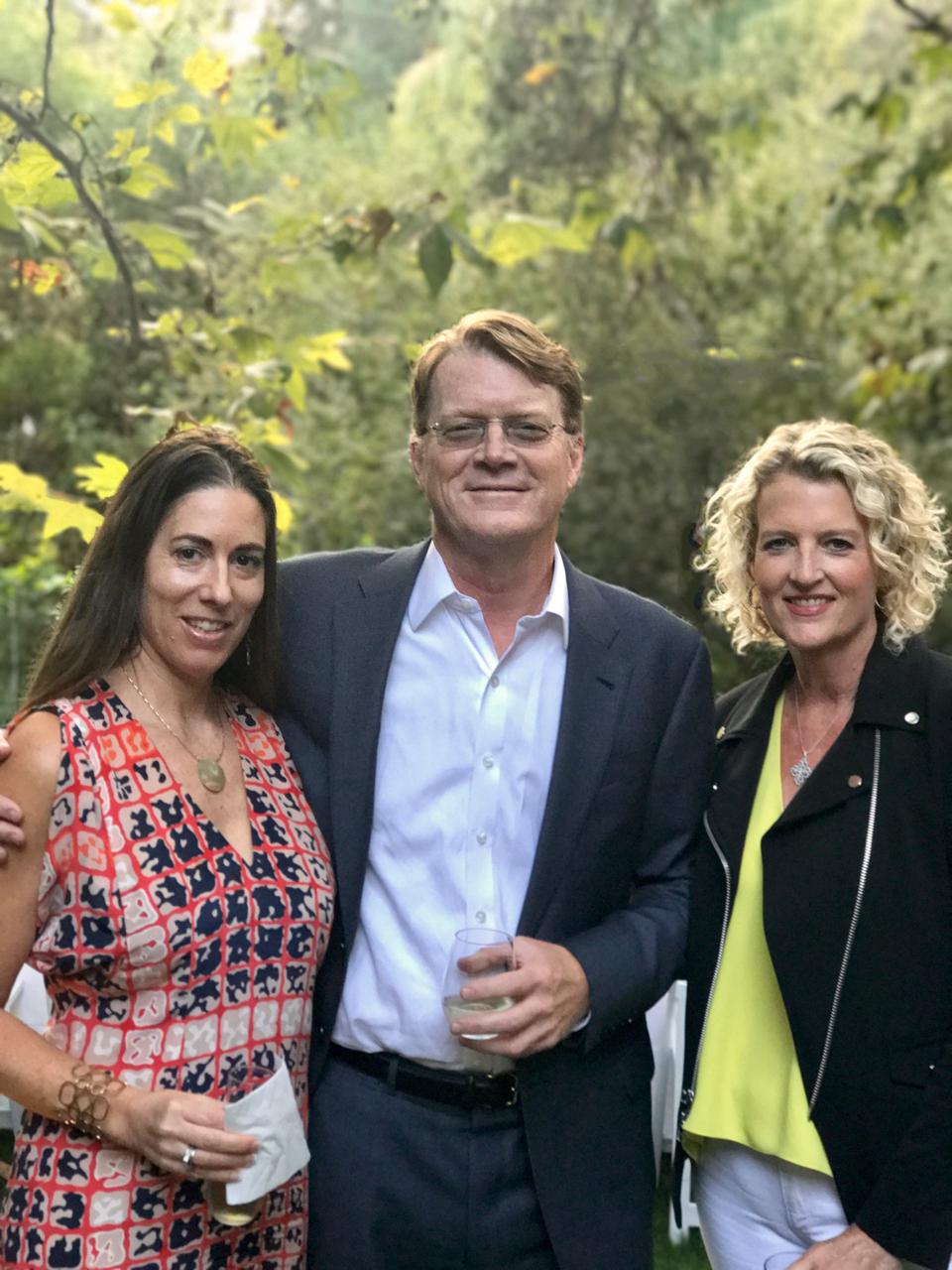 Angeles Art Fund Founders: Marta Ferro, Jon Foster and Victoria Burns