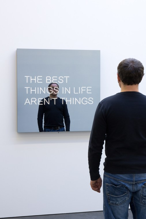 Jeppe Hein, The Best Things in Life Aren't Things, 2017
