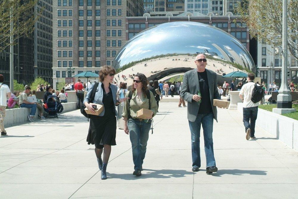 Anish Kapoor in Millennium Park, Chicago