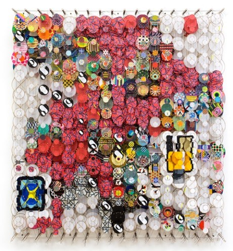 Jacob Hashimoto, My Own Lost Romance, Invocations and Afterglows, 2017
