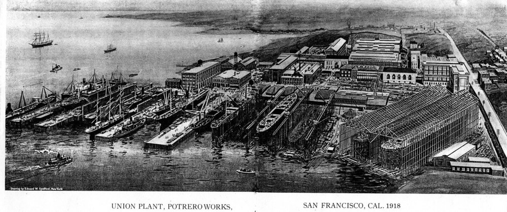Union Iron Works, San Francisco, 1918
