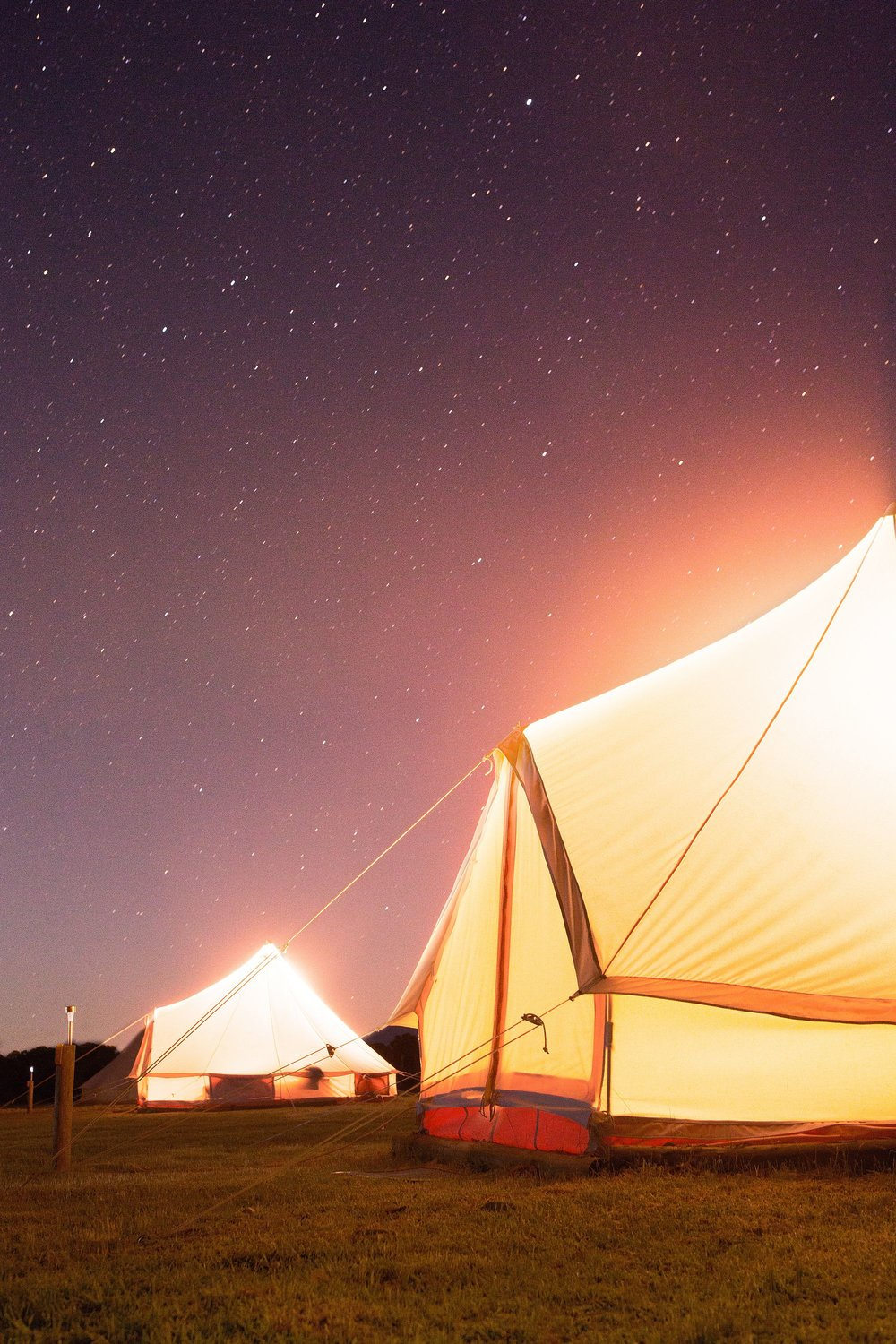Glamping Bell Tents in Coonawarra