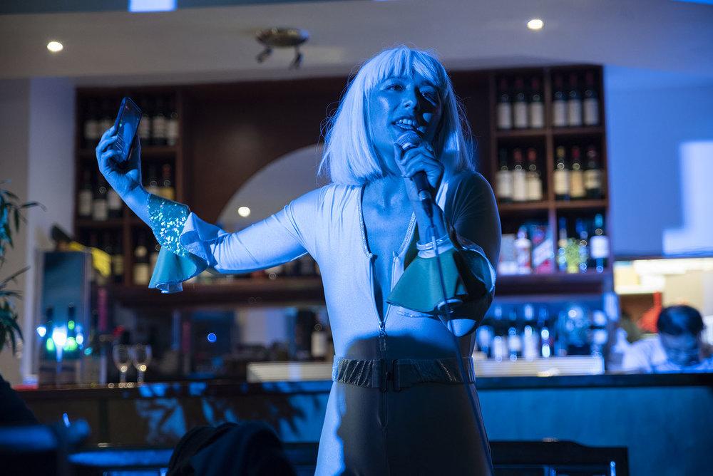 Emiko Sheehan performing at       Chur: Asia Pacifika Kaikai at Big Thumb  - Photo by John Lake