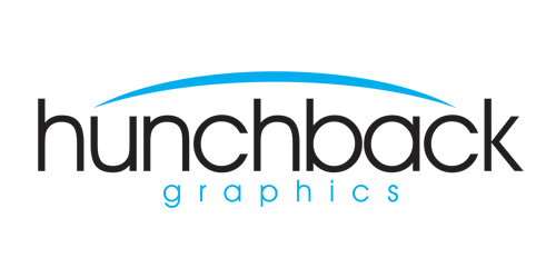 SIMPLISTIC STYLE LOGO USING AN ARCH TO REPRESENT THE HUNCH.