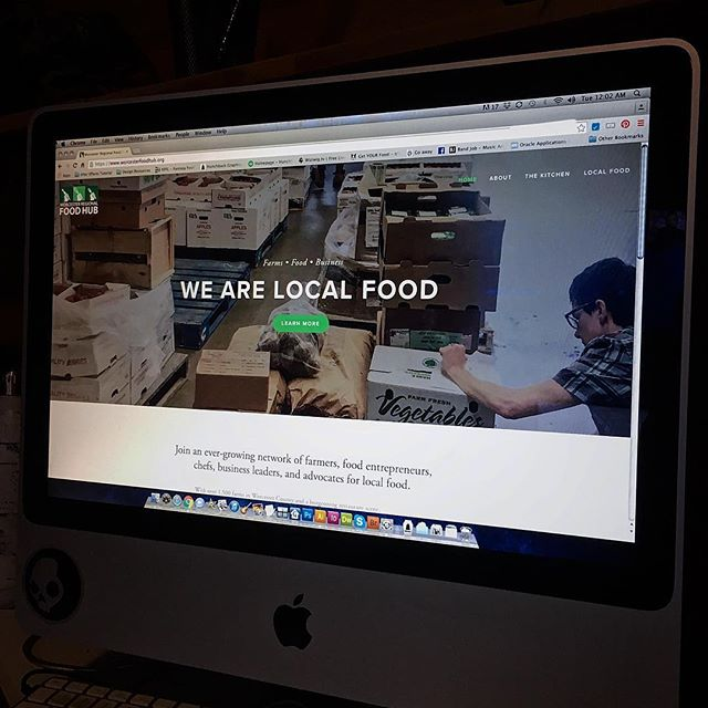 We helped launch the new @worcesterregionalfoodhub website last week. Go check out all the great work they are doing. . . . #worcester #smallbusiness #graphicdesign