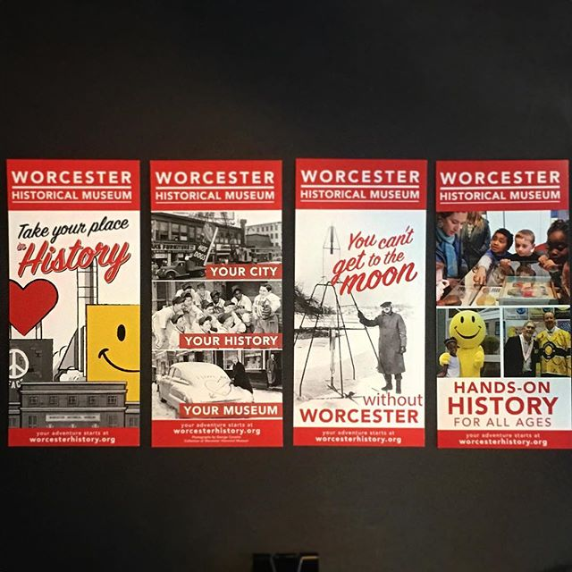 We love Worcester! So, getting to collaborate with the @worcesterhistoricalmuseum on these new rack cards was a real treat. Also, shout out to @scouming for the wonderful illustration. - #graphicdesign #collateral #rackcards #marketingmaterial #worcester
