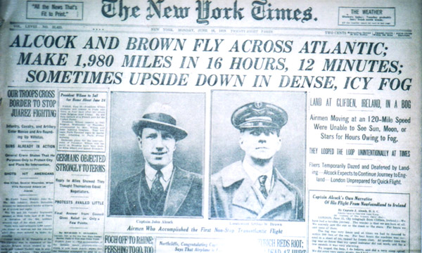 Captain John Alcock and Lieutenant Arthur Whitten Brown