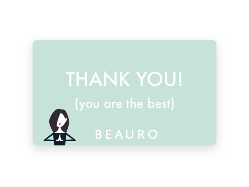 thank you gift card beauro