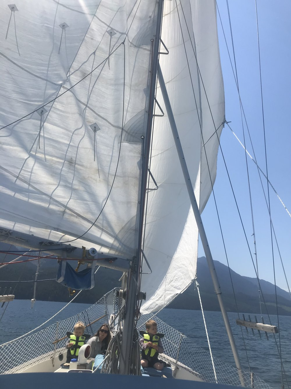 Sailing Johnstone Strait.