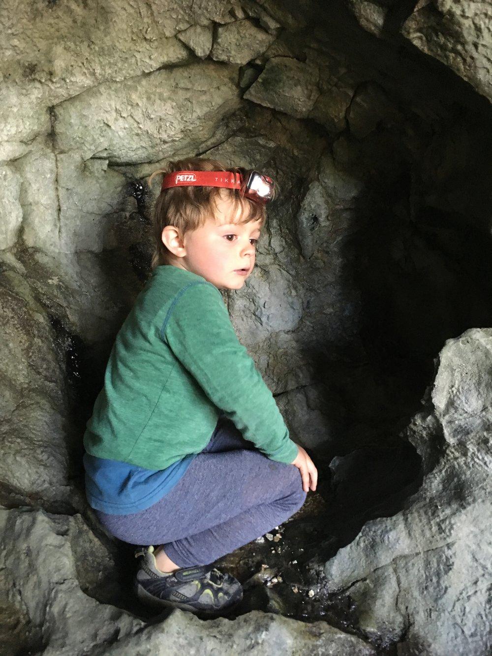 Spelunking in El Capitan cave.