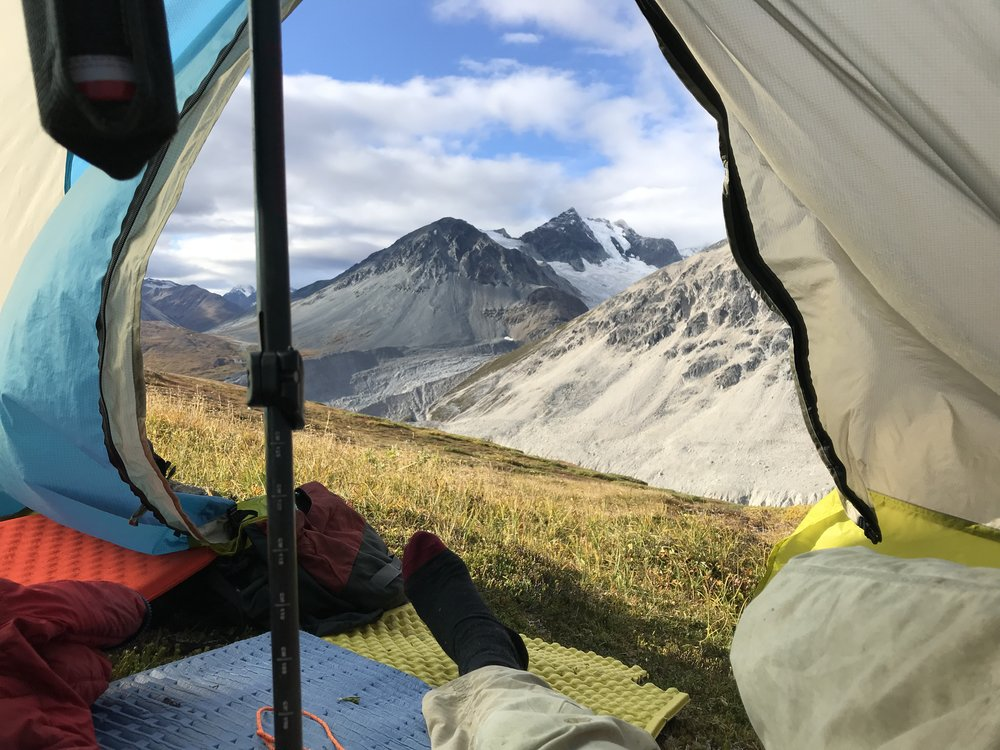 View from the tent.