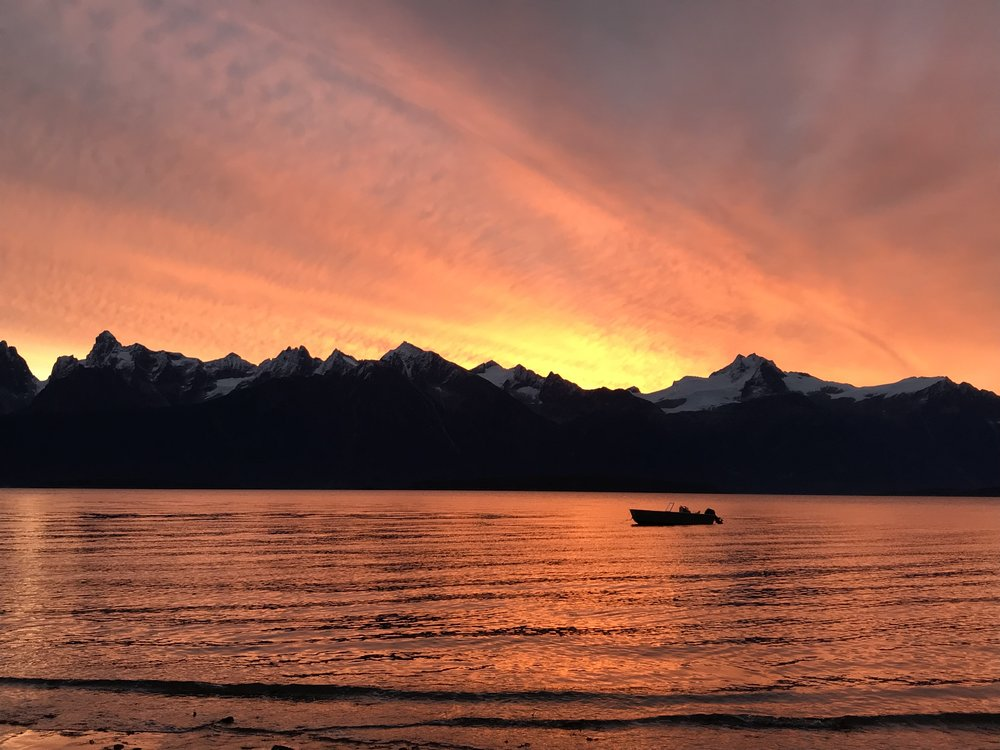 Sunrise over Lynn Canal.