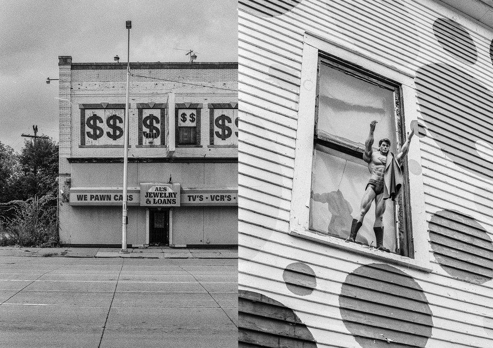 We pawn cats, Detroit, 2018 & Clark Kent, Detroit, 2018