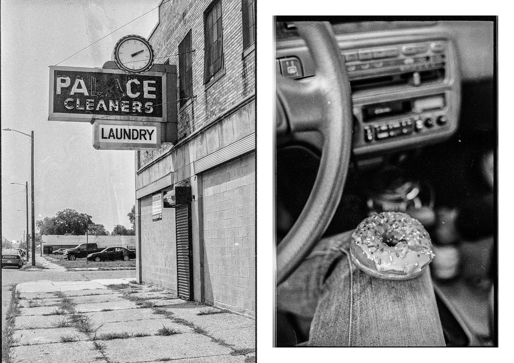 Palace laundry, Detroit, 2018 & On the road, Detroit, 2018