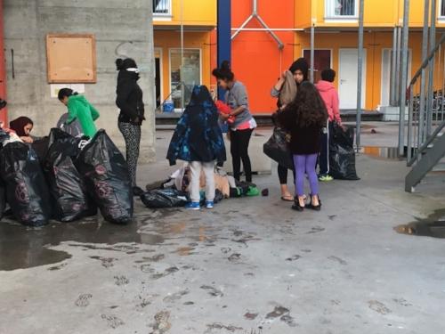 Temporäre Wohnsiedlung für Asylsuchende in Zürich Leutschenbach
