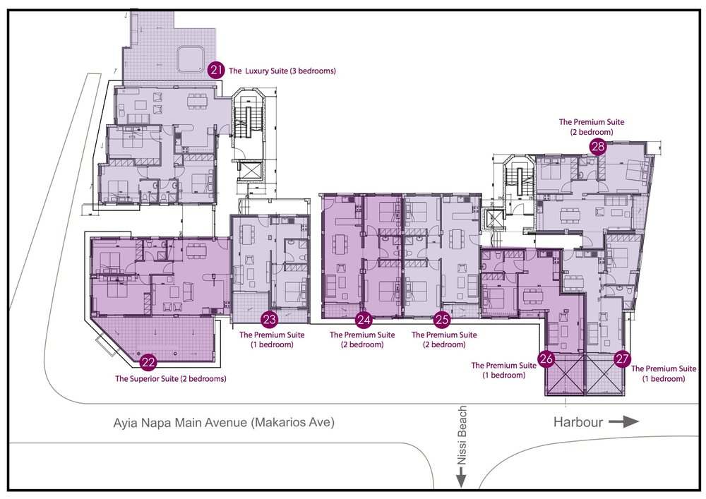 click thumbnail to enlarge floor plans >>