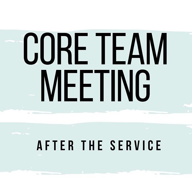 Want to find out more about the building work, and other exciting developments at Pattern Church? Come to our core team meeting after the service on Sunday to find out more. We have these meetings every second Sunday of the month so get them in your diary 👊