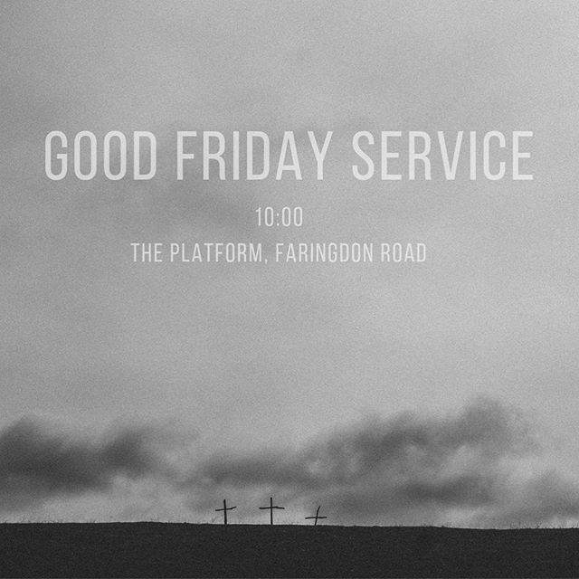 Join us this week for a Good Friday service! It'll be a time of reflection, readings and a performance song as we head into the Easter weekend. Coffee from 09:30 🙌
