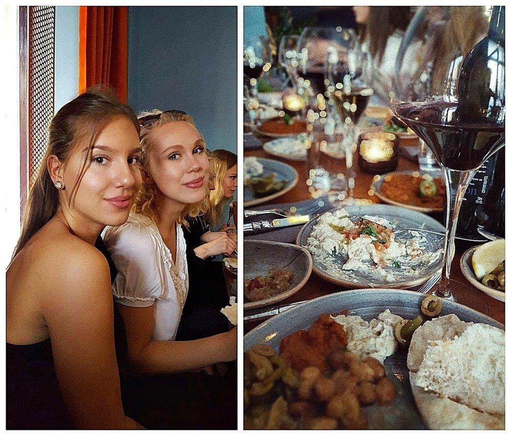 Sammanfattningsvis kan vi hjärtligt rekommendera den här restaurangen till dig som gillar libanesiskt, har många olika viljor i sällskapet, vill ha en rolig restaurangupplevelse och gillar mycket mat!  Trevlig kväll som det var så glömdes bloggen och instagramskontot av lite, men ett par bilder lyckades vi i alla fall knäppa så att ni får någon uppfattning om stället!