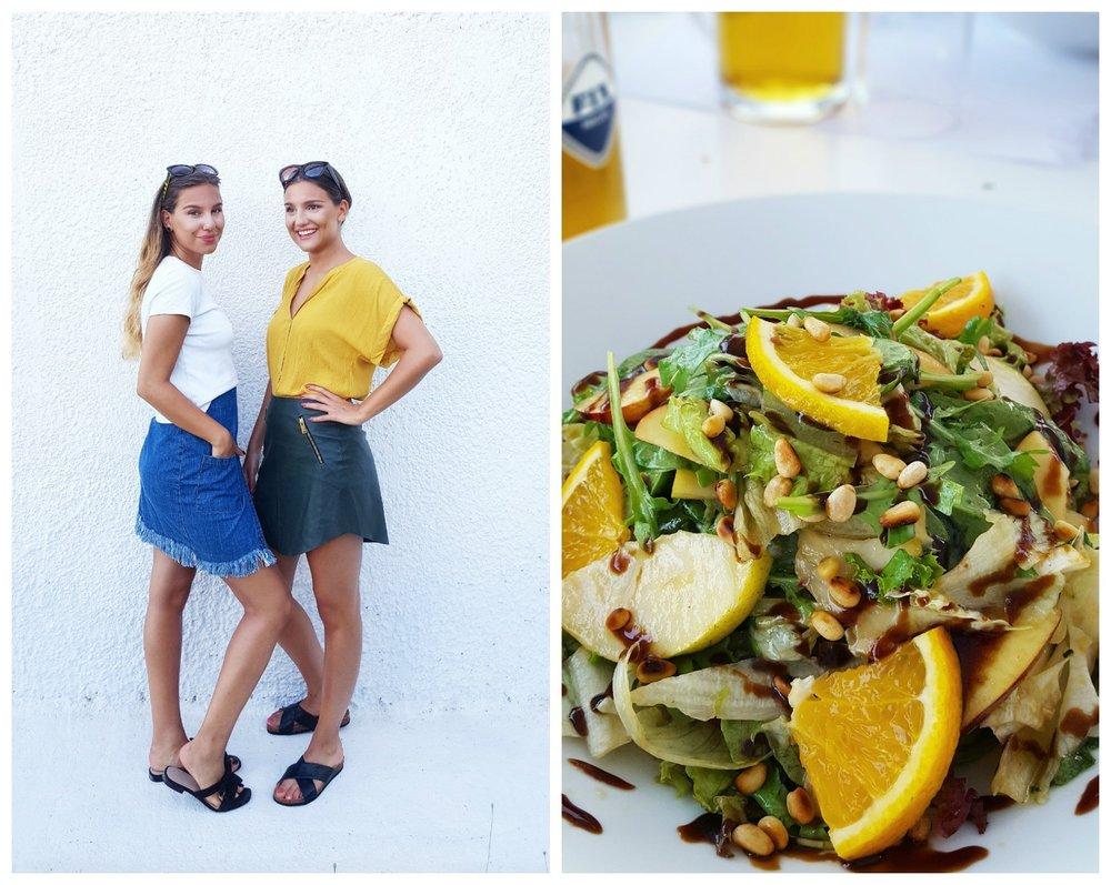 Sallad med citrus, pinjenötter och balsamicovinägrett!