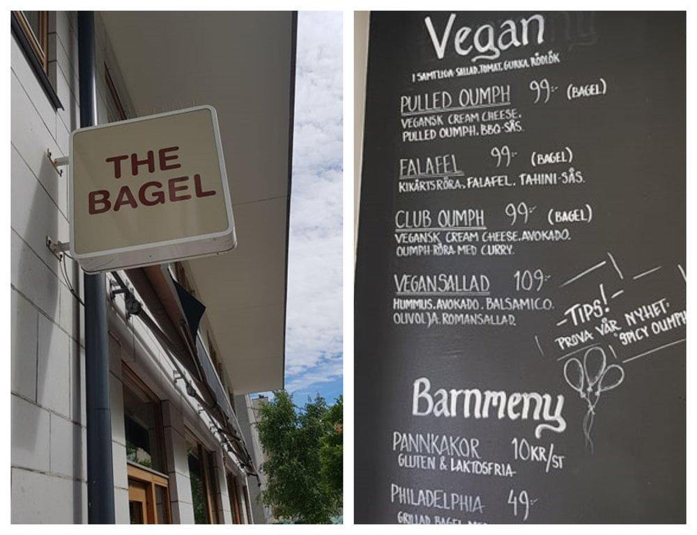 Bagel café ligger precis bakom skrapan vid Skanstull.