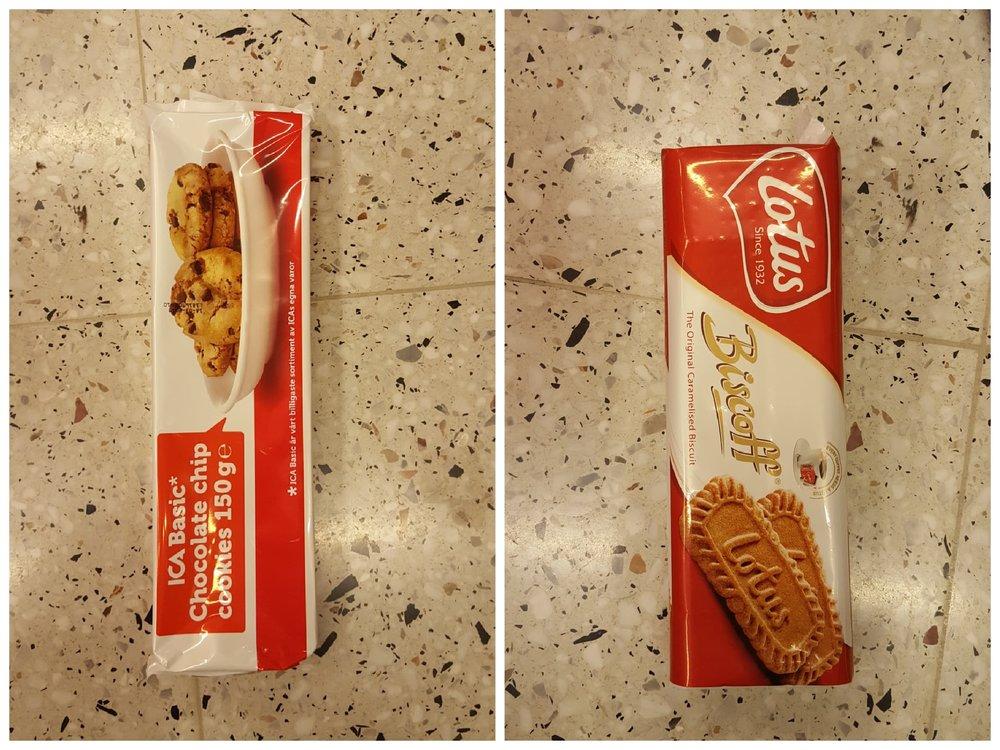Om ni inte smakat Ica basics cookies än så vad väntar ni på?! Sjukt goda och billiga! Biscoff är också veganska.