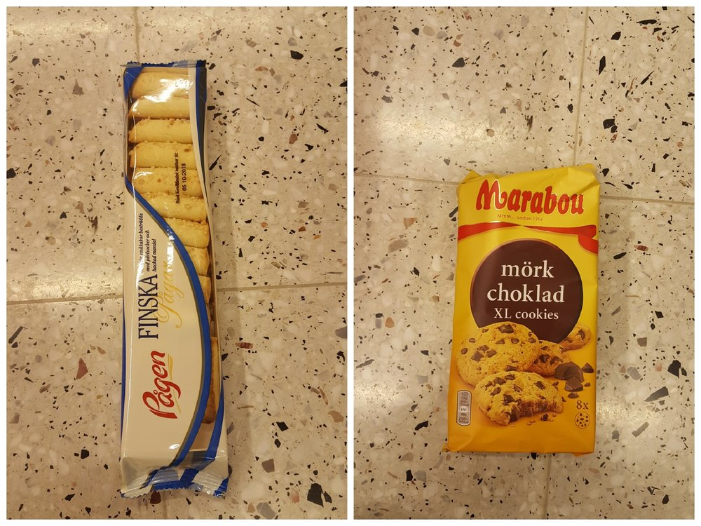 Finska pinnar och Marabous cookies