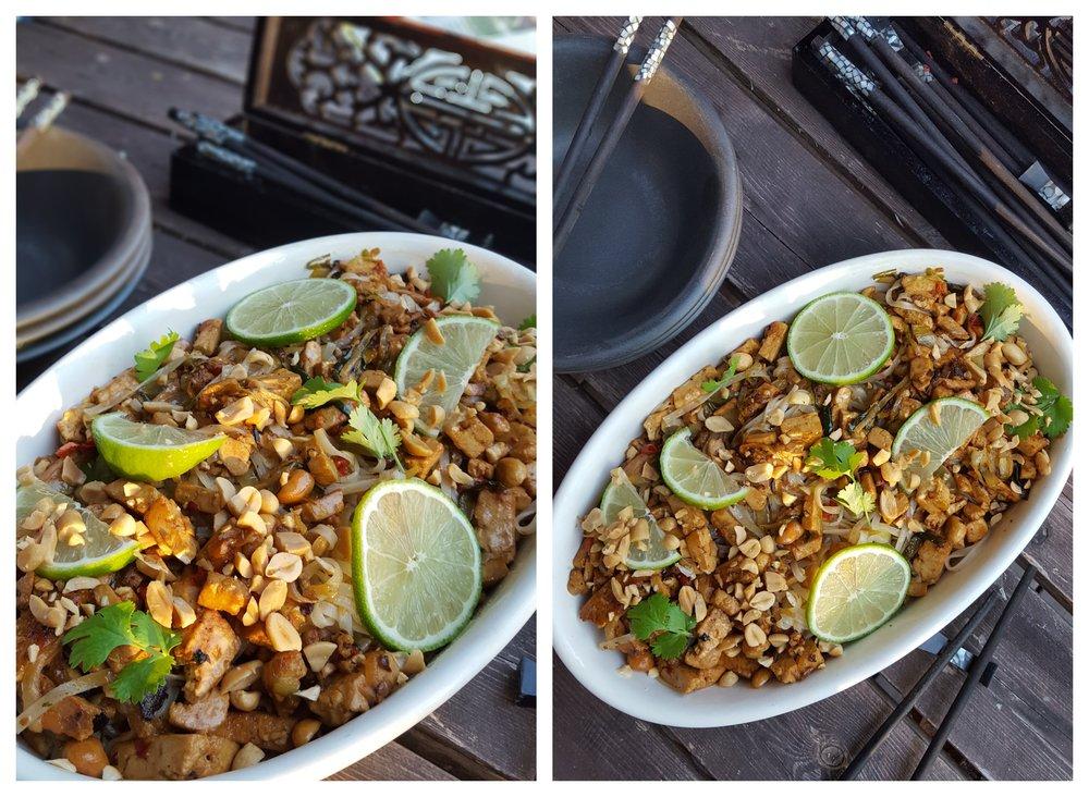 Thai tofu - With lime, peanuts and cilantro