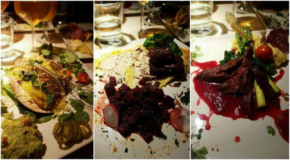Tempeh och seitan - på restaurang Vegan V.