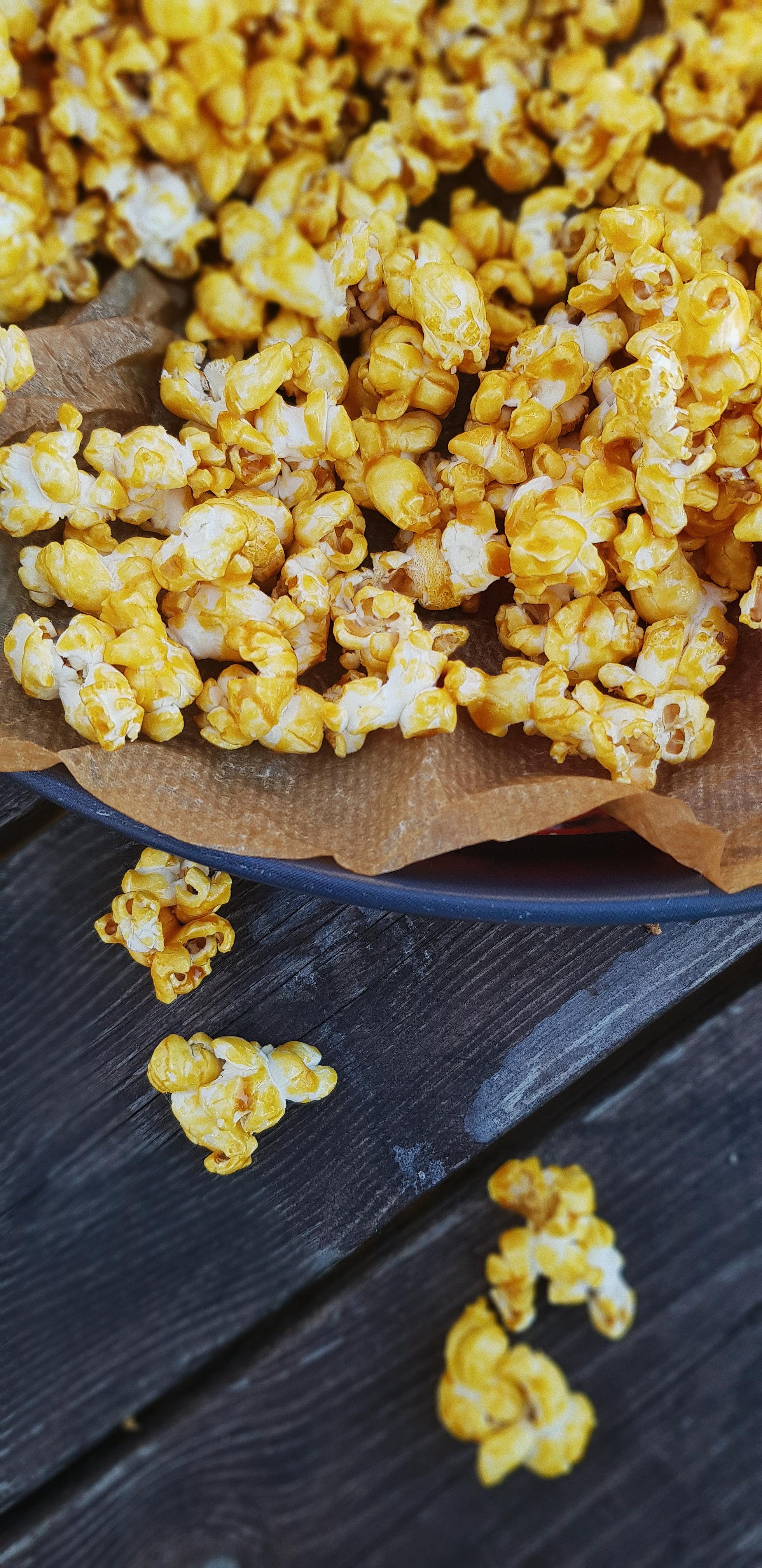 kanderade popcorn recept