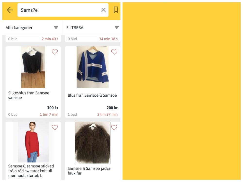 """Här ser vi både den """"svenska"""" och originalstavningen på märket Samsøe & Samsøe kommer med."""
