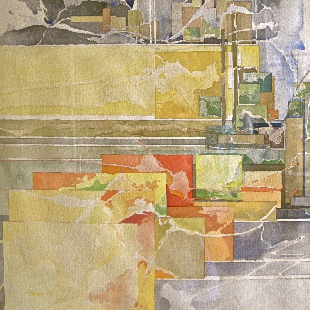 """October: Interstate 70"" Watercolor, 22"" x 30"""