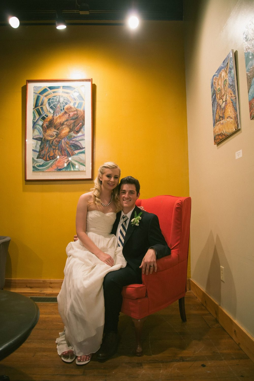 Our Wedding Reception in 2014 at Grassroots Coffee in Thomasville, GA