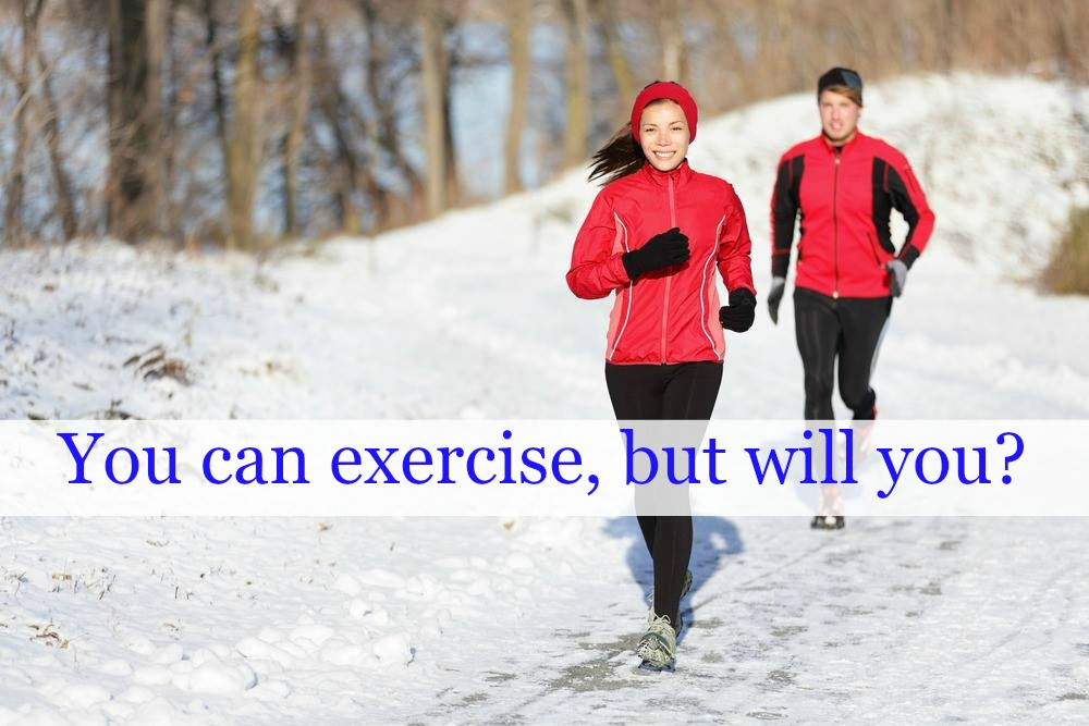 Winter runners with copy