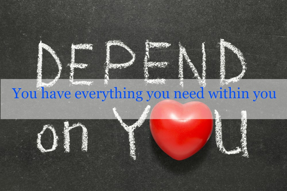 Depend on you with copy