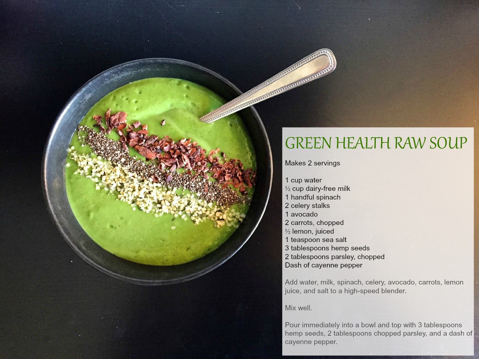 Green Health Raw Soup