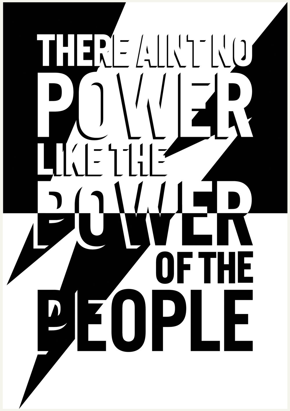 POWER - 1 colour screen print A3 200gsm recycled art paperDesigned in partnership with Some Voices Choir. Created for their spring 2018 gig at the Copperbox Arena London - Save Our Souls; The Ultimate End of the World Party.100% of profits from the sale of this print go to the event's partnering charity Help Refugees.http://ninetyfiveprints.com/