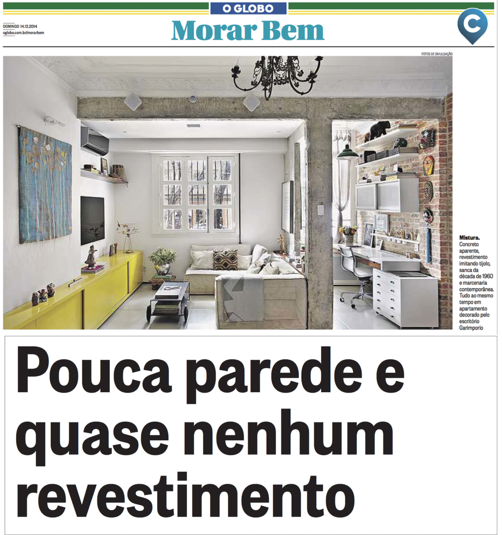 CADERNO MORAR BEM  - JORNAL O GLOBO 14.12.14