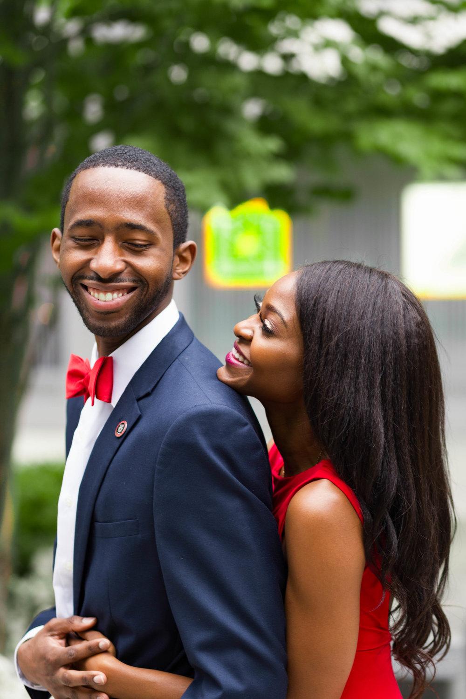 Black Couple Engagement Session