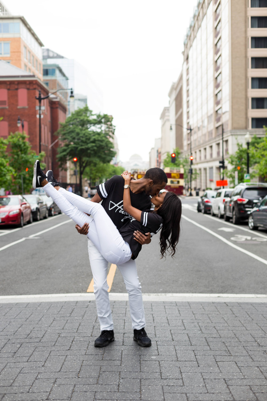 Black Couple Engagement Washington D.C. City Center