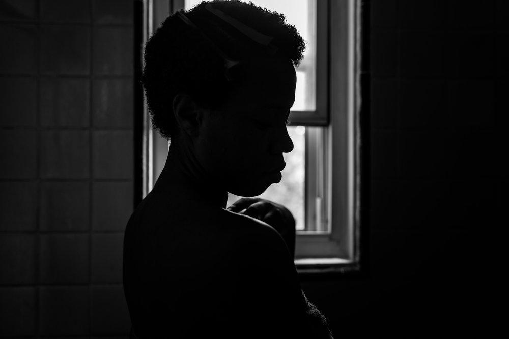 Black Girl in The Shower