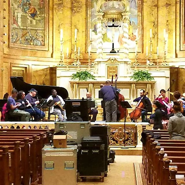 Welcome to the Church of St. Ignatius Loyola, Imani Winds, Harlen Quartet, A.B. Spellman, Edward Perez, Alex Brown and Neal Smith. Tomorrow night is going to be beyond beyond! NY Premiere of Passion for Bach and Coltrane