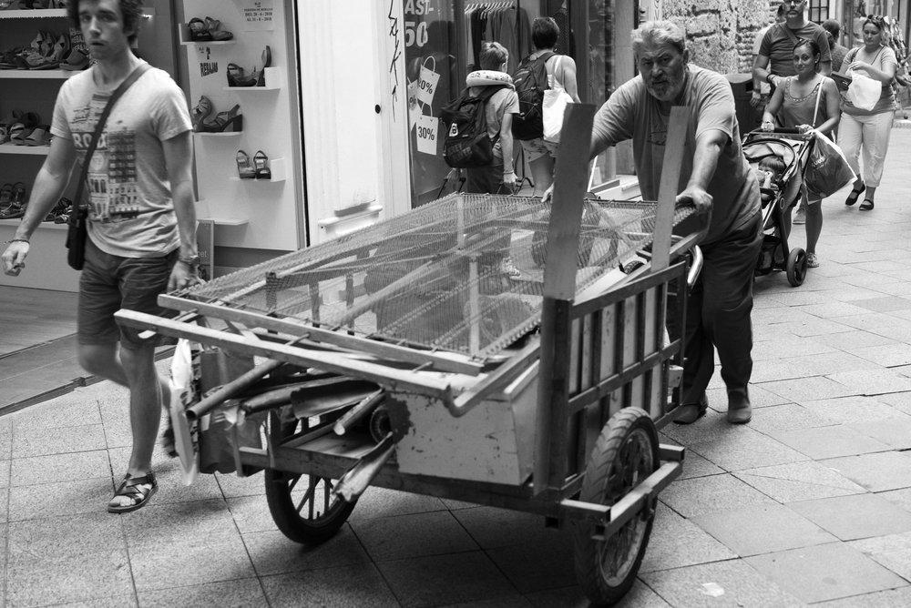 Pushin' Seville, Spain Leica M (Typ 246) 50mm f/2.0 APO Summicron  © Keith R. Sbiral, 2018